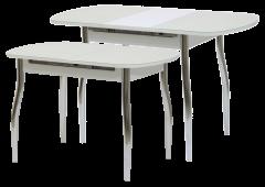 Стол «Гала-12» (кожзам под стеклом)