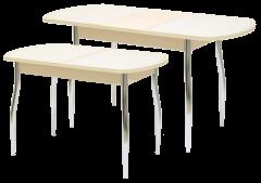 Стол «Гала-14» (кожзам под стеклом)